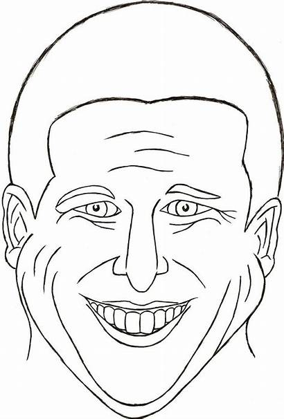 Coloring Face Smiley Pages Sketch Blank Printable