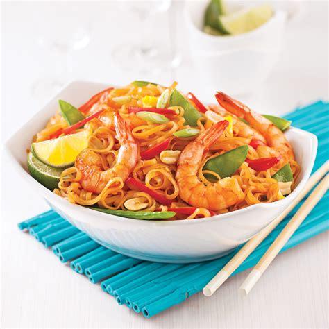 recette de cuisine minceur pad thaï aux crevettes en 20 minutes recettes cuisine