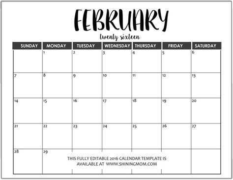 fully editable  calendar templates  ms word
