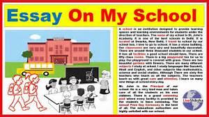 Essay On My School In Engilsh || Best and easy My School ...