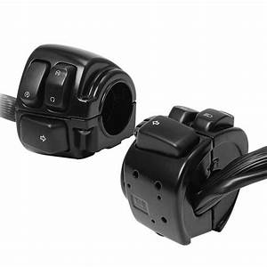 1 Pair Black Handlebar Switch Control With Wire Harness