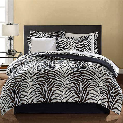 mainstays microfiber zebra print bedding set walmart com