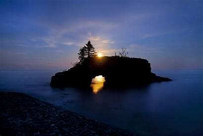 Lake Superior Minnesota Sunset Night Grand Hollow