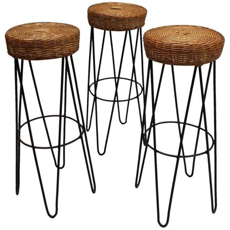 1950s Bar Stools Best 25 Rattan Bar Stools Ideas On Black