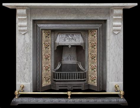 fireplace mantel white marble surround