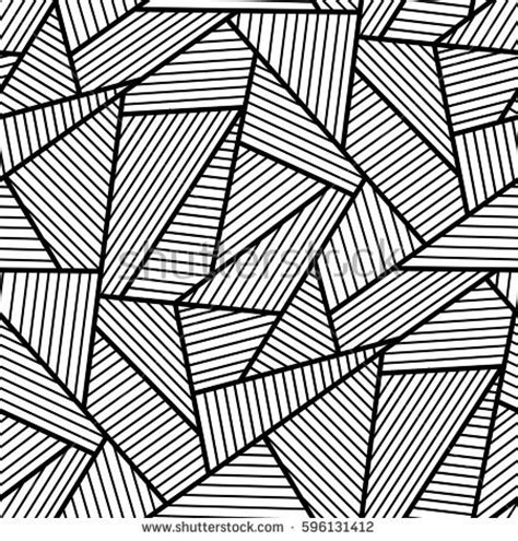 Abstract Vector Black And White by Abstract Black White Seamless Pattern Stock Vector