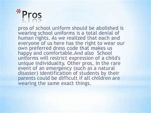 Essay on school uniform for and against - The arguments ...