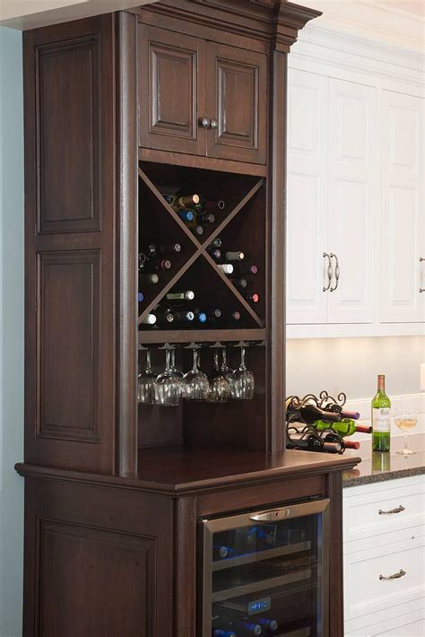 Wine Cupboards by Wine Storage Cabinet With Stemware Rack And Wine Cooler