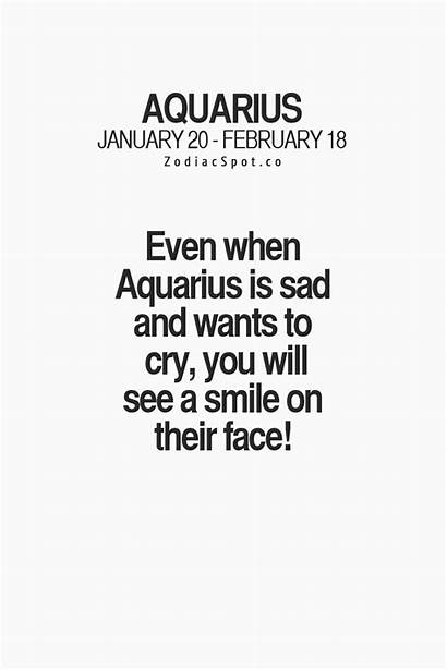 Aquarius Zodiac Quotes Signs Sign Sad Facts