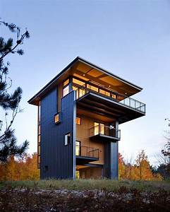 Tower, House, Sustainable, Retreat, By, Prentiss, Balance