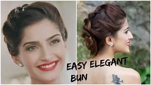 Sonam Kapoor's GLAMOROUS Hairstyle 5 Minute Romantic Bun Hairstyle/Indian Hairstyles For Medium
