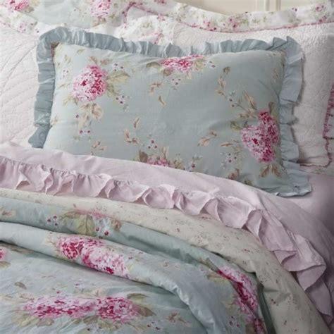 simply shabby chic rachel ashwell simply shabby chic duvet sham set belle hydrangea rose blue pink ebay