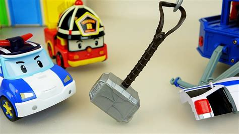 thor hammer and robocar poli car toys doovi