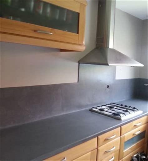 rénovation plan de travail cuisine béton ciré rénovation cuisine béton ciré effet industriel lv déco