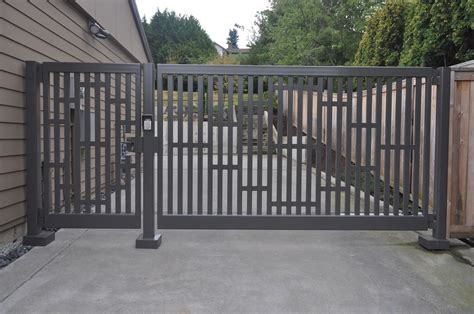 swing gates single swing gate with custom design elements and matching