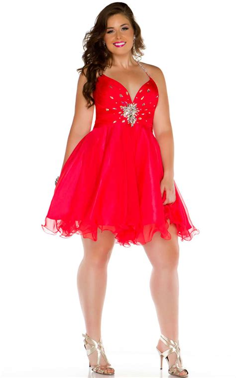 Red plus size dresses 33