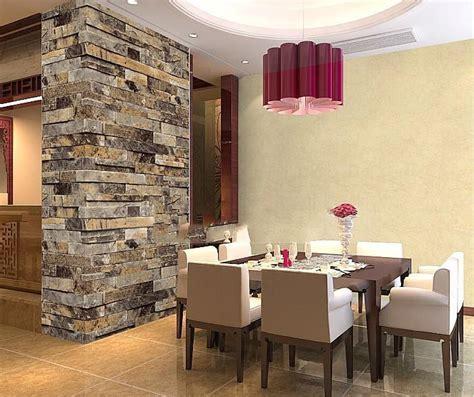 slate vinyl  embossed brick wallpaper roll kitchen
