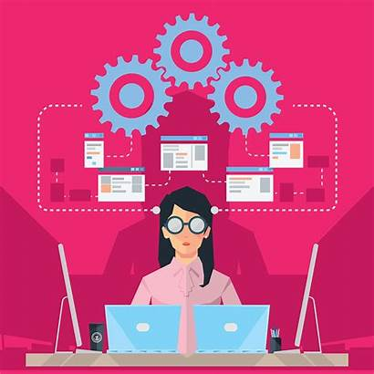 Engineer Software Female Illustration Training Professional Development