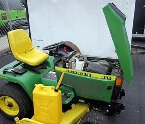 John Deere 455 Lawn Tractor  589 Hours  All Wheel Steer