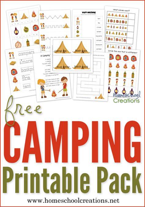 camping preschool pack  preschool printables