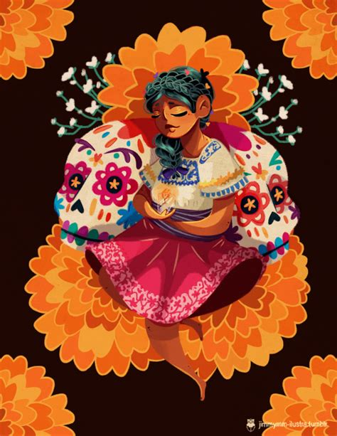 mexican day of the dead art Tumblr