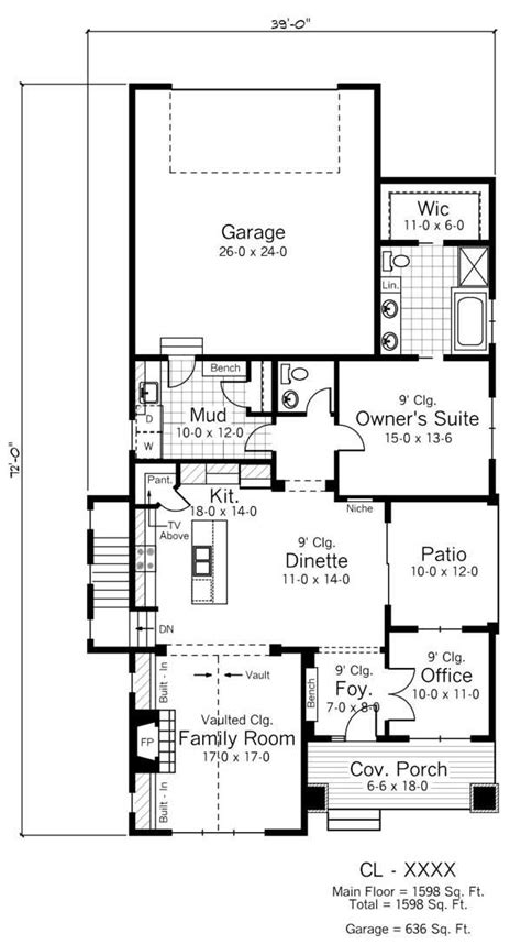 chicago bungalow house plans creativity and flexibility define narrow lot house plan styles