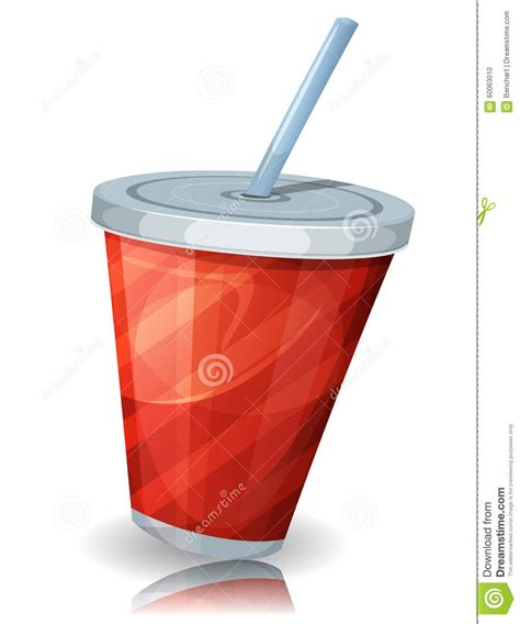 cuisine cup fast food cup of soda with straw stock vector image