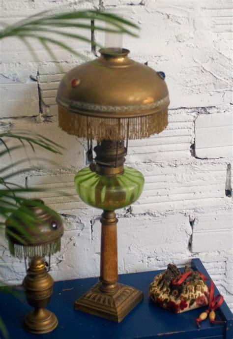 lampe  petrole ancienne retro  art nouveau