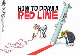 Image result for trump red line pics