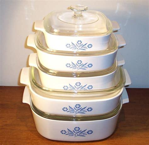 cornflower corning pyrex corningware casserole ware dish baking lid dishes qt plates vtg cookware retro