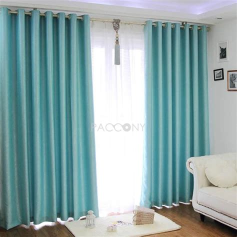 turquoise sound proofing blackout curtains pins i