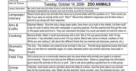 preschool is planning activities zoo animals lesson plan 122 | zoo animals lesson
