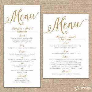 gold wedding menu cards wedding menu template gold With size of wedding menu cards