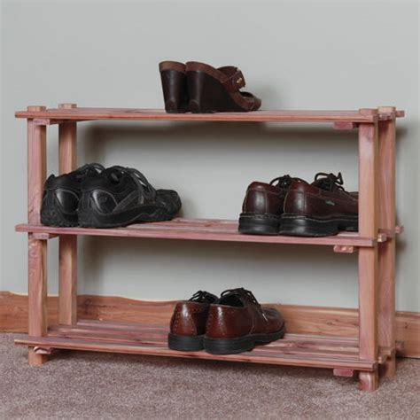 cedar shoe rack three tier cedar shoe rack home accents