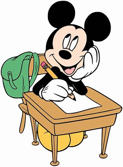 Clipart Mouse Reading Mickey Minnie Clip Transparent