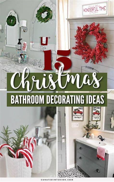 brilliant christmas bathroom decor ideas