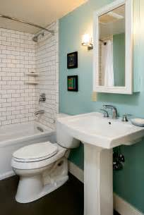 5 creative solutions for small bathrooms hammer - Bathroom Pedestal Sinks Ideas