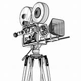 Camera Movie Film Drawings Coloring Cinema Sketch Filmcamera Movies Turbosquid Credit Larger sketch template