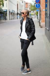 Black Leather Jacket and Jeans