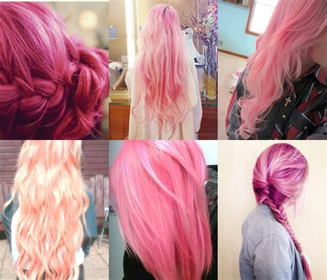Pretty Pink Hairstyles For Long Hair Pictures Photos And