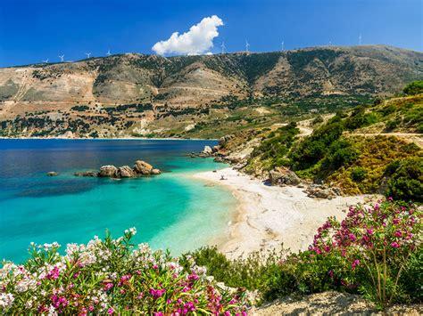 vouti beach kefalonia island greece hd wallpaper