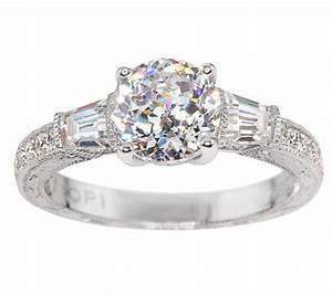 tacori iv diamonique epiphany bloom cut baguette ring With tacori wedding rings qvc