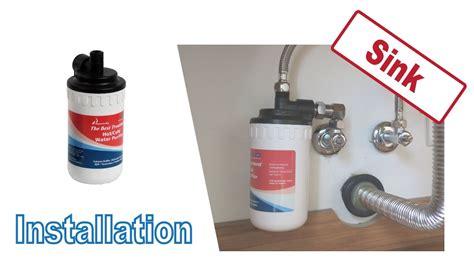 installing cf ch hot water filter  sink washstand