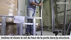 poser d39une porte coulissante a galandage youtube With porte de garage de plus baie vitrée galandage