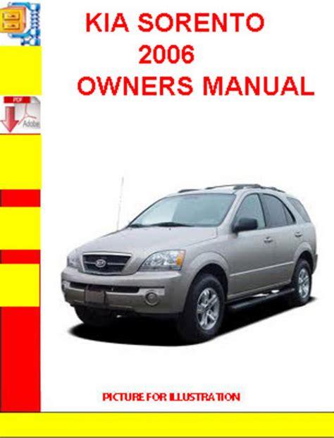 kia sorento  owners manual  manuals technical