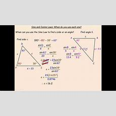 Sine And Cosine Laws When Do You Use Each Onemp4 Youtube