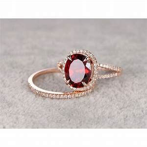 garnet wedding ring set rose gold split shakewomen39s With garnet wedding ring set