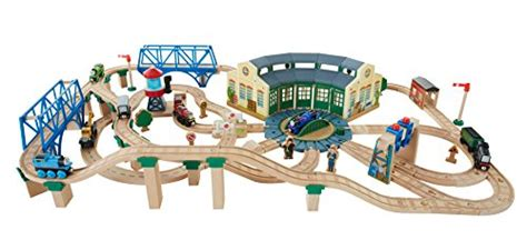 Tidmouth Shed Deluxe Set by Fisher Price The Wooden Railway Tidmouth