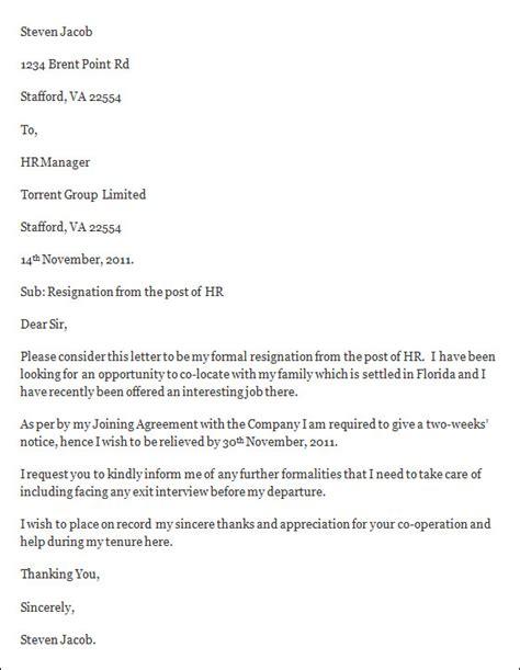 resignation letter template  resignation letter template