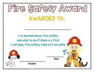 preschool fire safety booklet printables With fire safety certificate template